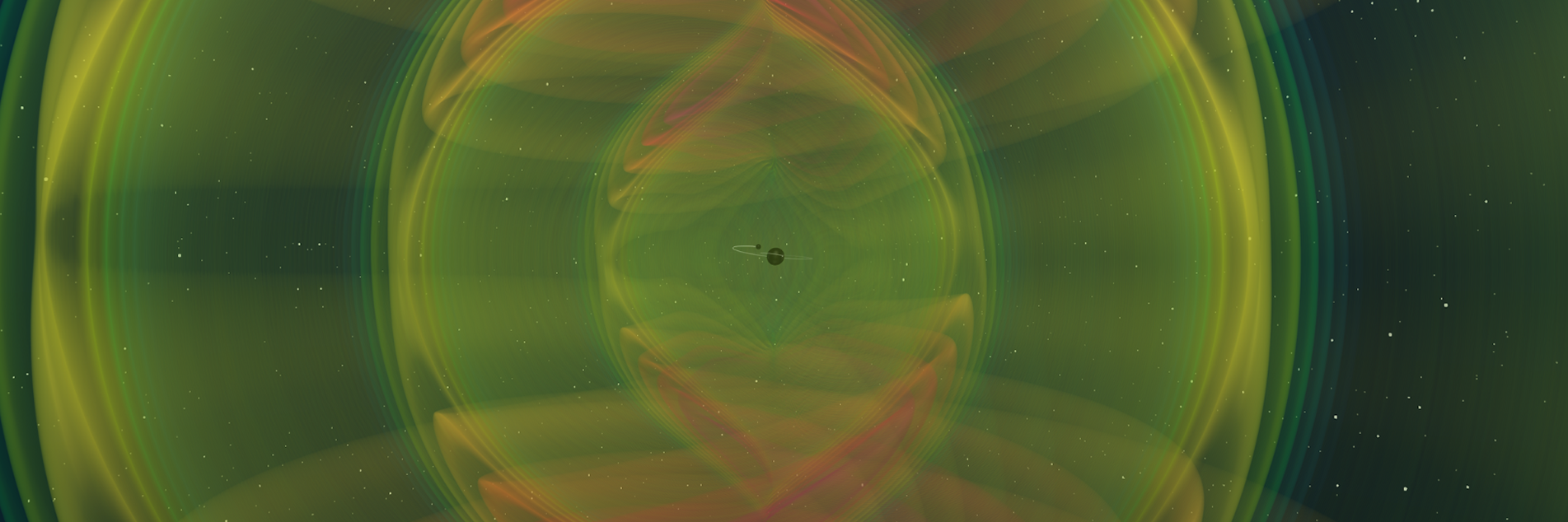 A still frame from a numerical simulation of a black hole system similar to GW190412. Image credit: N.L. Fischer, H. Pfeiffer, MPI, SXS.