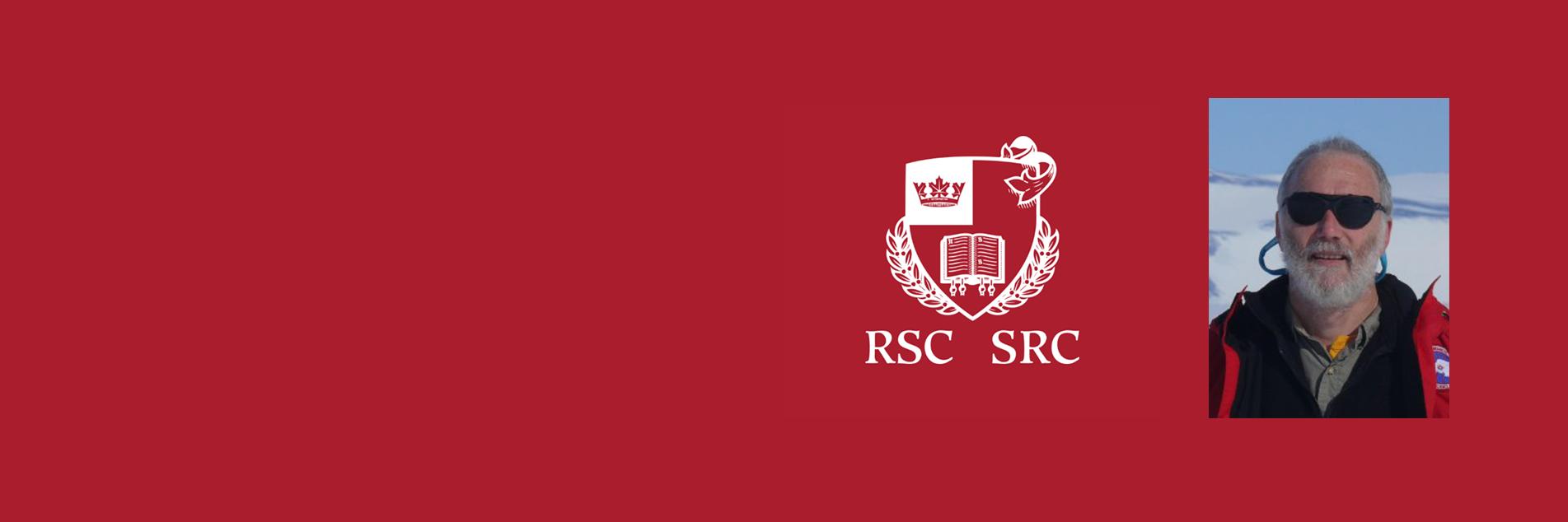 Dr Mark Halpern and the Royal Society of Canada shield