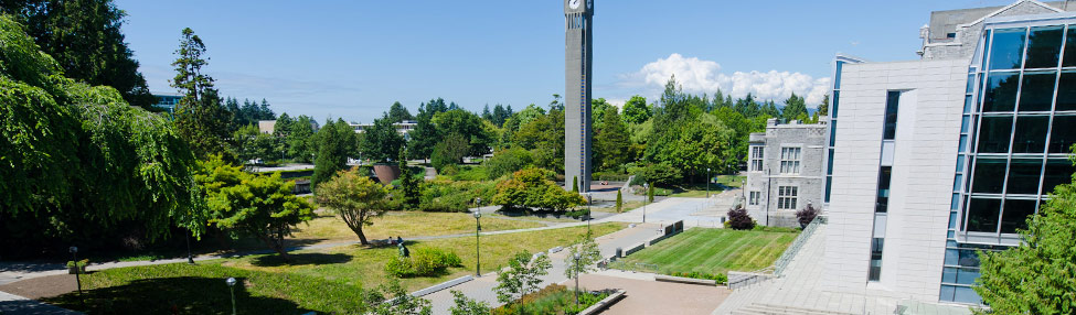 University of British Columbia Physics and Astronomy Department Header Image