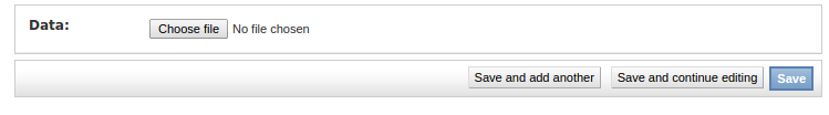 Django file upload screen